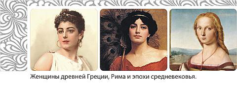Женщины древней греции, Рима и эпохи средневековья