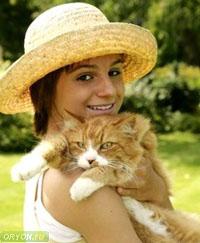 Кошка - источник заражения паразитами