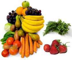 Заражение через плохо промытые овощи, фрукты, зелень и ягоды
